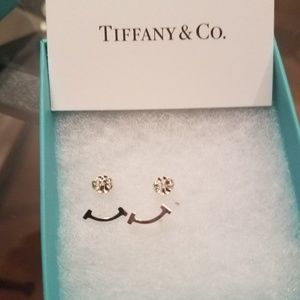 TIFFANY&CO Sterling Silver T Smile Stud earrings